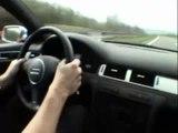 Audi RS6  Avant 500 hp doing 300 kmh on the Autobahn