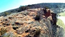 Red Rock Canyon, OK. Quadcopter aerial video.