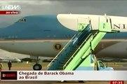 Barack Obama chega ao Brasil (IMAGENS INÉDITAS)  da família Obama no Air Force One no DF