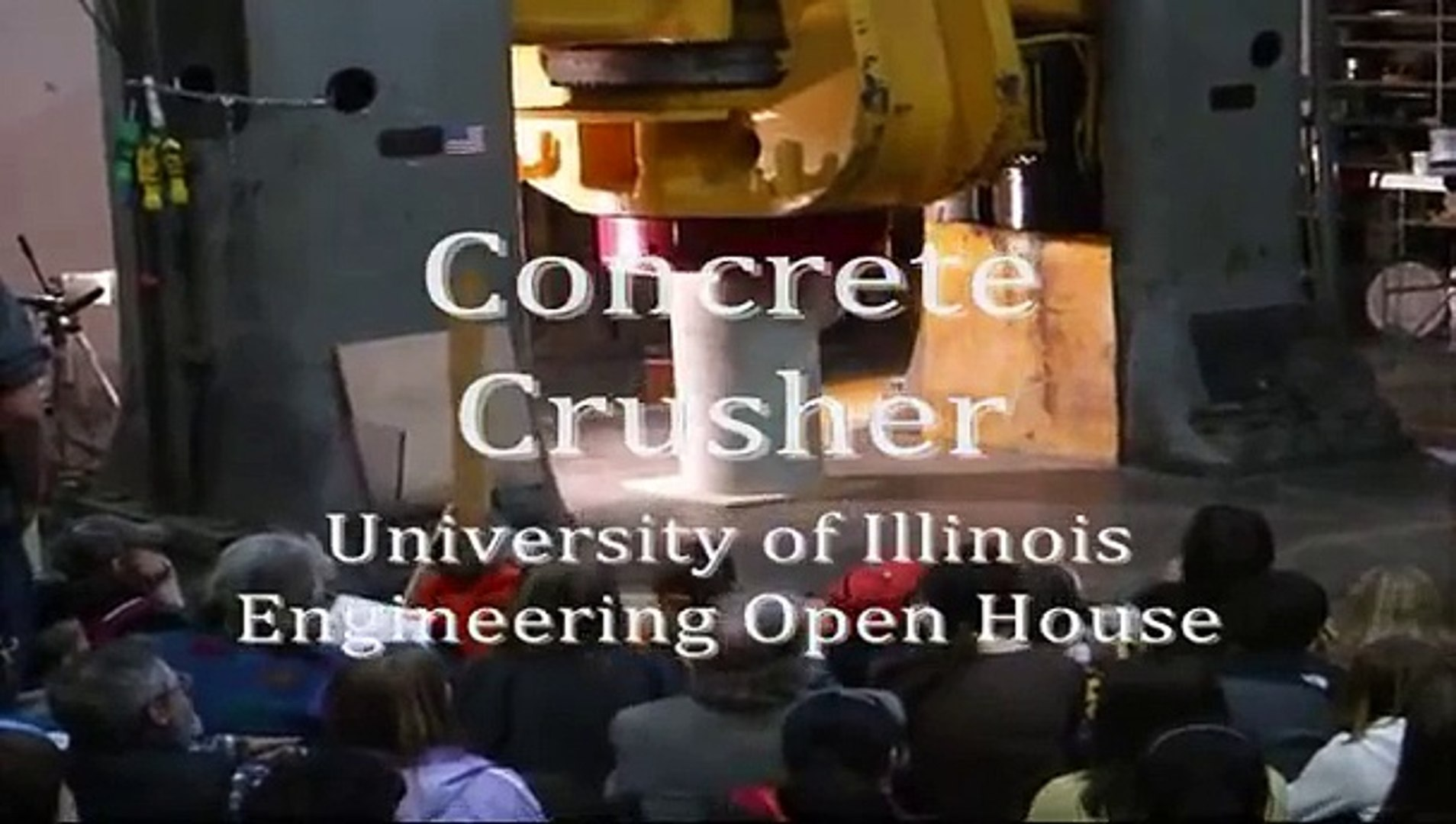 Concrete Crusher at Engineering Open House