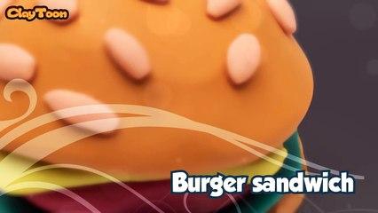 Burger sandwich, Polymer clay tutorial | ساندوتش الهامبرجر , تشكيل صلصال