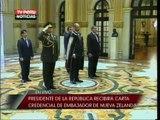 Presidente recibe Cartas Credenciales del Embajador de Nueva Zelanda