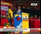 Henrique Capriles  reta a Hugo Chávez a debatir sobre problemáticas del país