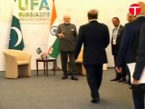 PM Nawaz and Modi meet along sidelines of summit in Russia