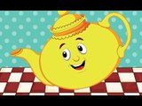 I'm A Little Tea Pot Nursery Rhyme With Lyrics - Cartoon Animation Rhymes & Songs for Children