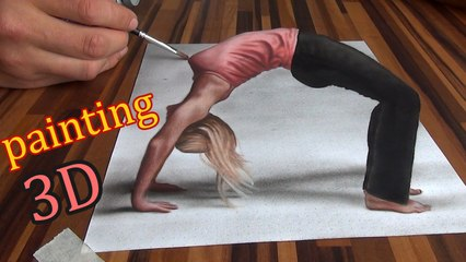 3D Drawing of an optical illusion/Speed Painting