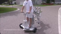 Impressive walking machine powered by a drill!