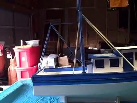 Model shrimp Boat  Building