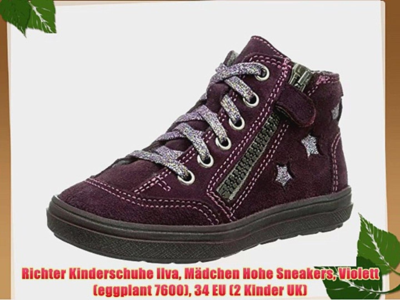 M Kinder Uk dchen Kinderschuhe Ilva Hohe Violetteggplant Richter Eu2 Sneakers 760034 thCsrQBdx