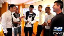Simon Cowell Introduces Ryan To JLS | On Air With Ryan Seacrest