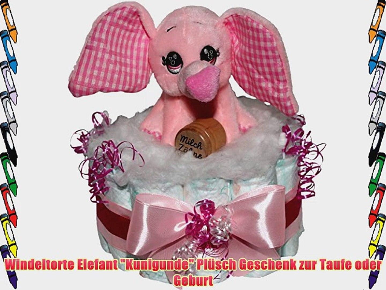 Windeltorte Elefant Kunigunde Plsch Geschenk Zur Taufe Oder Geburt