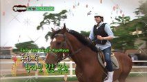 [ENG] Scared Kyuhyun Screaming While Feeding A Horse (FUNNY!!)