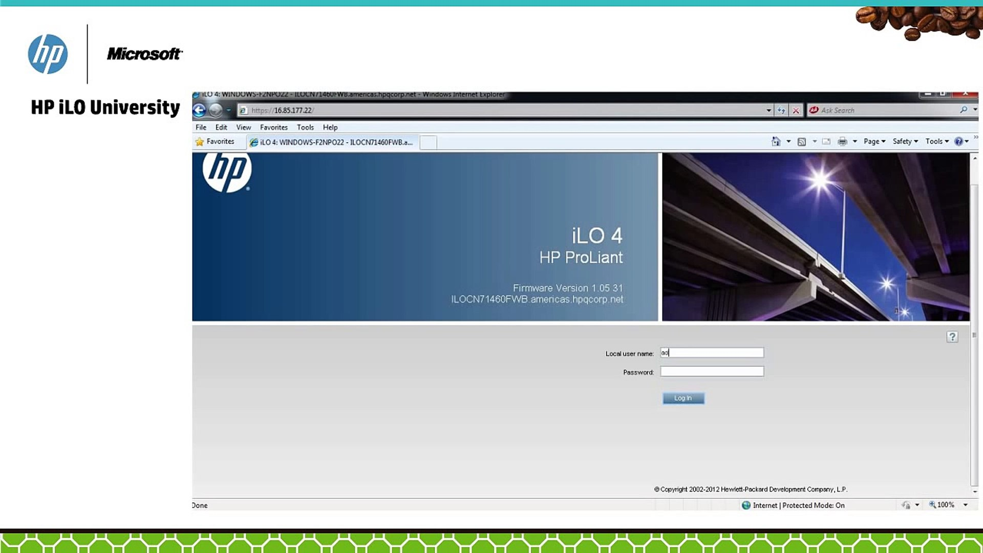 How to use the iLO Standalone Integrated Remote Console on HP ProLiant  Servers [CCEN]