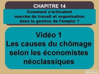 Term chap 11 Les causes du chômage selon les économistes néoclassiques (1)