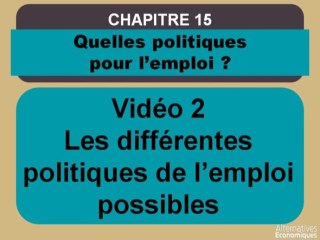 Term chap 12 Les différentes politiques de l'emploi possibles (2)