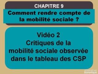 Term chap 7 Critiques de la mobilité sociale observée dans le tableau des CSP (2)