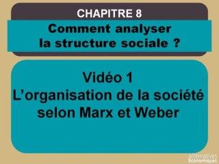 Term chap 6 L'organisation de la société selon Marx et Weber (1)
