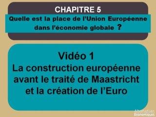 Term chap 4 La construction européenne AVANT le traité de Maastricht et la création de l'Euro (1)