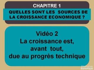 Term chap 1 La croissance est, avant tout, due au progrès technique (2)