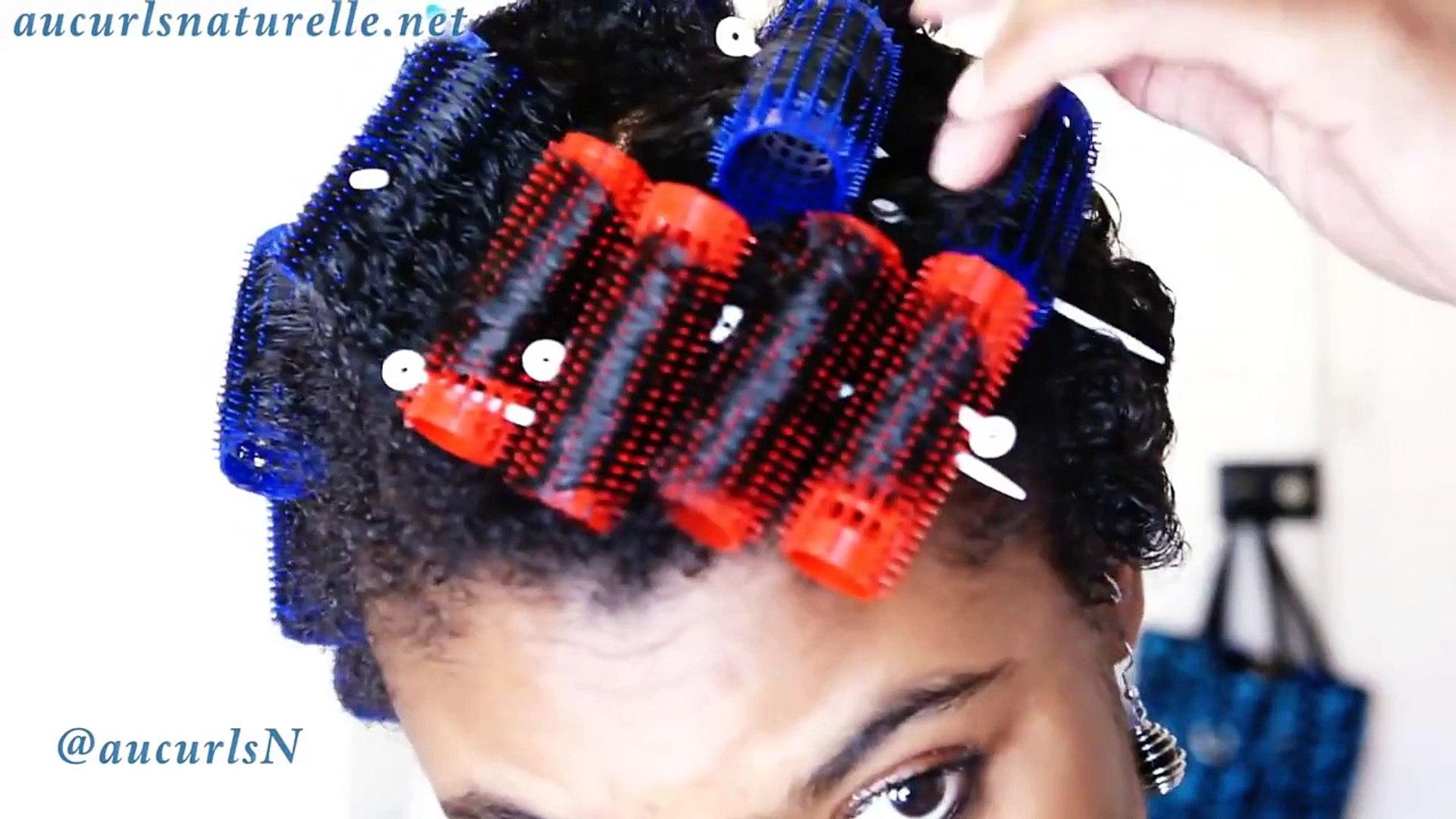 Short Natural Hair Roller Set Twa Roller Set Video Dailymotion