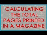 Calculating the Total Pages Printed in a Magazine - CBSE ICSE NCERT Maths Class VI