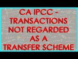 CA IPCC - Transactions not regarded as a Transfer   Scheme of Demerger cases