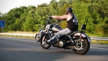 Harleys On The Road.  Harley Davidson: King Of The Road