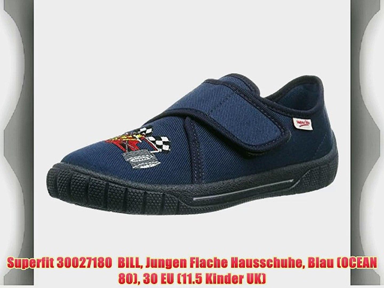 finest selection dfb52 b69fa Superfit 30027180 BILL Jungen Flache Hausschuhe Blau (OCEAN 80) 30 EU (11.5  Kinder UK)