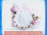 Mamasliebchen Schnullerkette Nuckelkette mit Name Wunschname individuell und handgefertigt