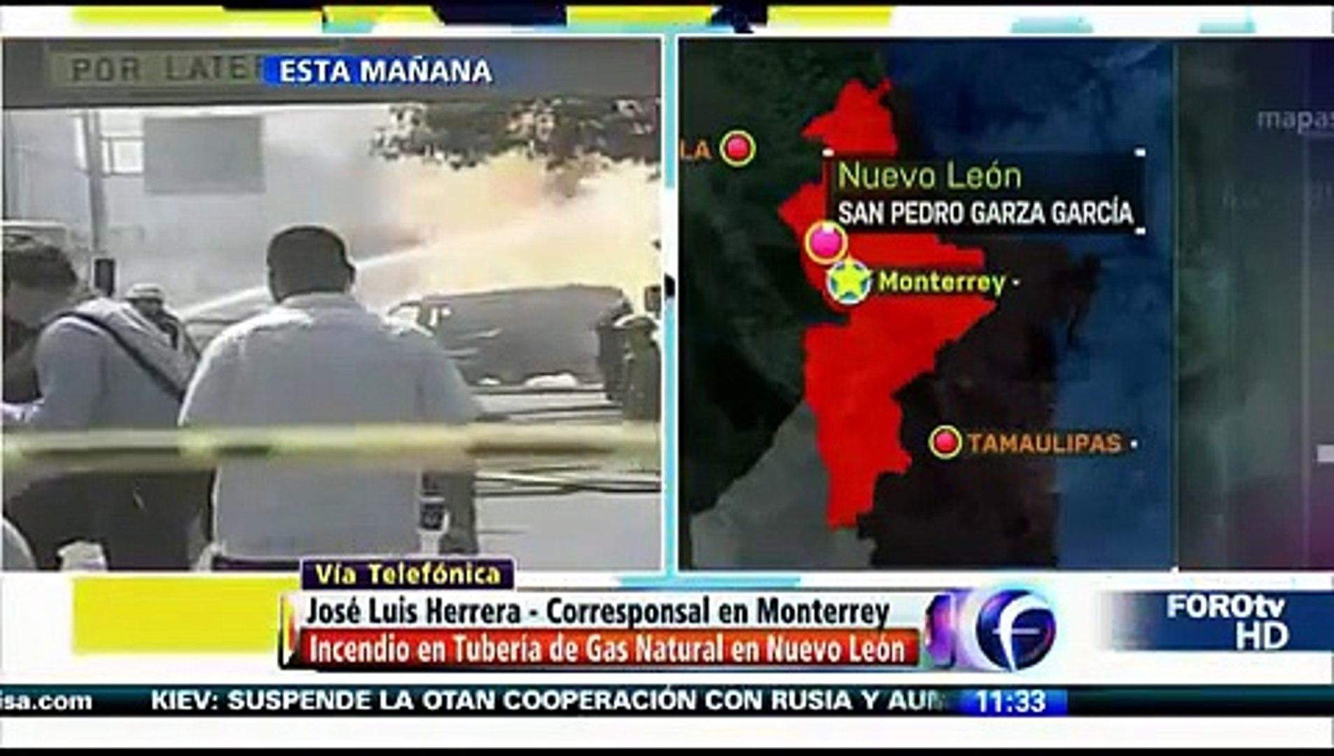 Explosión e incendio en tubería de gas natural en San Pedro Garza Garcia 7 agosto 014 Nuevo León
