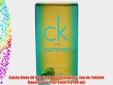 Calvin Klein CK One Summer 2014 unisex Eau de Toilette Vaporisateur 1er Pack (1 x 100 ml)
