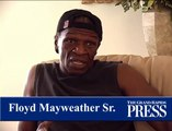 Floyd Mayweather Sr. not shy about giving advice to Lil' Floyd at camp