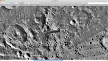 Alien Moon Structure NASA frame #126 of Lunar Orbiter Mission, UFO Sighting News.
