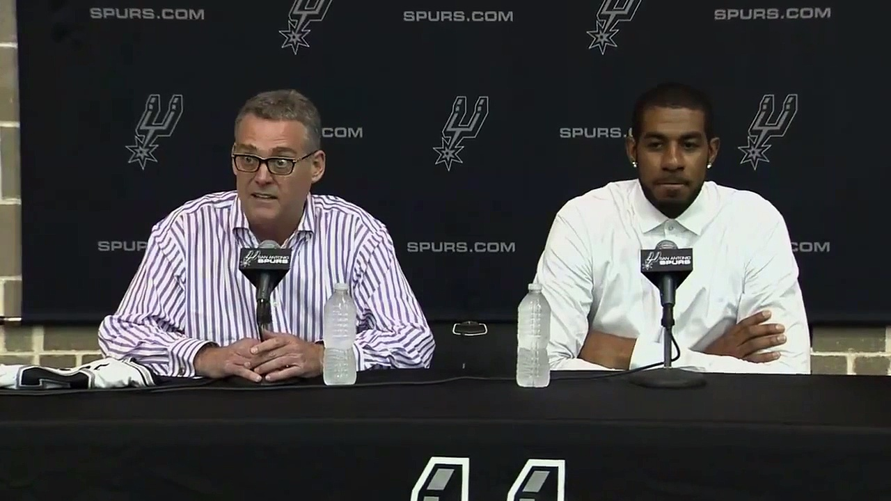Spurs Introduce LaMarcus Aldridge _ July 10, 2015 _ 2015 NBA Free Agency