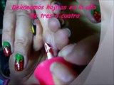 Tutorial decoracion uñas facil (Diseño Fresitas)