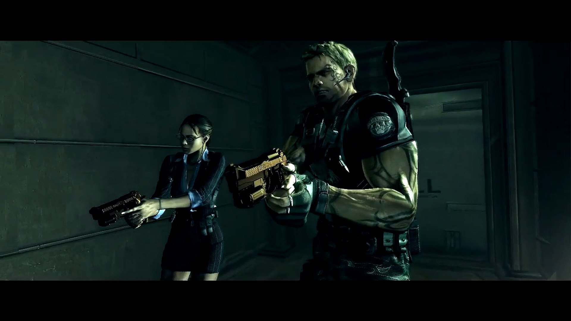 Hd Resident Evil 5 Magic Chris Summoned Wesker Shirtless