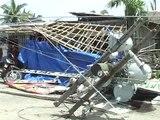 Senator Mar Roxas in Aklan surveying the damage from 'Frank'