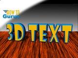 Photoshop 3D Text Effects, how to make 3D Text, CS5 CS6 CC Tutorial