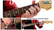 """How to Play """"Human Nature"""" by Michael Jackson on Guitar"""