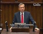Poseł Tadeusz Tomaszewski - Wystąpienie z dnia 07 lipca 2015 roku.