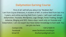 How to make money online? Dailymotion Earning course Intro - Learn online earning in Just 20 $
