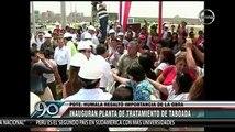 Ollanta Humala y Alan García juntos para inaugurar Planta de Tratamiento de Aguas Residuales Taboada