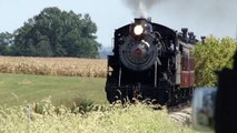 Strasburg Steam Engine Pulls Full Load