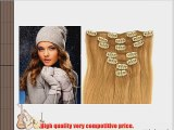 27 strawberry blonde honey blonde Real Remy Human Hair Clip In Hair Extensions 22 Inch 7pc