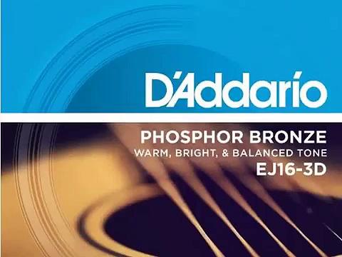 Get D'Addario EJ16-3D Phosphor Bronze Acoustic Guitar Strings, L Product images
