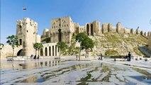 Syria civil war Bomb damages Aleppo's ancient citadel