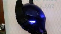 Arkham Knight Helmet! Leds, see thru textured visor