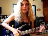 Bass Player Valerie Spinner Ibanez Soundgear Bass Gallien Krueger Amp