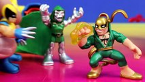 Marvel Super Hero Squad Quinjet With Spider man Iron Fist Wolverine Electro Doctor Doom