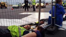 Climate change activists protest at Heathrow Airport